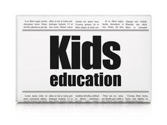 Education concept: newspaper headline Kids Education Stock Illustration