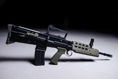 Modern automatic bullpup rifle - stock photo