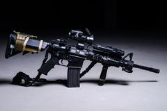 Assult automatic rifle Stock Photos