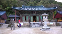 Sinheungsa temple in Seoraksan NP, South Korea. Stock Footage