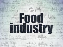 Manufacuring concept: Food Industry on Digital Paper background Stock Illustration