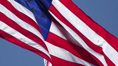 Patriotic United States Flag blow in breeze HD 2 026 Stock Footage