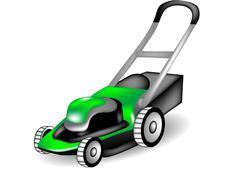 Lawn mower Stock Illustration