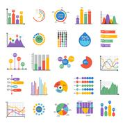 Business data graph analytics vector elements Stock Illustration