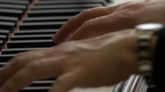 Stock Video Footage of Extreme close up of a man playing the piano in Venice