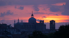 Chiesa di San Geremia seen at sunrise in Venice Stock Footage