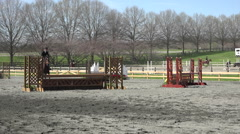 Virginia girl horse jumping competion HD 032 Stock Footage