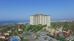 Stock Video Footage of Aqua-park near Gold City tourism complex and coastal city