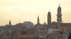 The towers and buildings of Venice seen at dawn Stock Footage