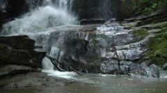 Beautiful Waterfall In Western North Carolina - stock footage