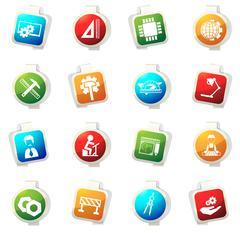 Engineering icons set - stock illustration