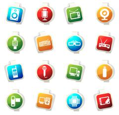 Gadget icon set - stock illustration