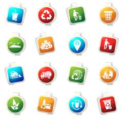 Stock Illustration of Garbage Icons set