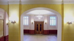 Entrance hall of University named by D.I. Mendeleev. Stock Footage