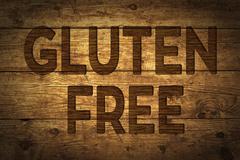 Text Gluten Free - stock illustration
