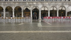 Flood in St Mark's Square, Venice Stock Footage