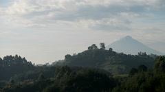 View of Mount Muhavura (4127m), Uganda, Africa - stock footage