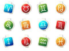Zodiac icon set Stock Illustration