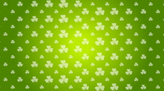 St. Patricks Day green video animation Stock Footage