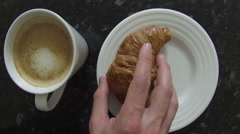 Breakfast layout - stock footage