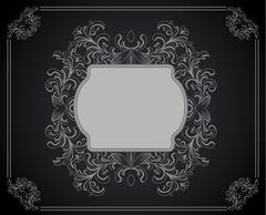 Vintage floral frame. Element for design Stock Illustration