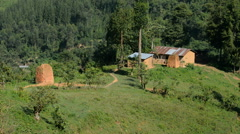 Ugandan villages enroute to Bwindi Impenetrable Forest, Uganda, Africa Stock Footage
