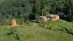 Ugandan villages enroute to Bwindi Impenetrable Forest, Uganda, Africa - stock footage