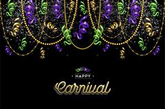 Stock Illustration of Happy carnival design background decoration