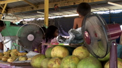 Produce market in in Kota Kinabalu, Stock Footage