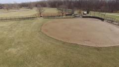 Baseball field during off season of winter aerial shot 4k Stock Footage