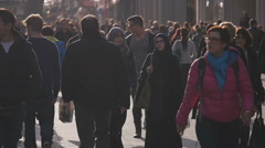Two Muslim women shopping Stock Footage