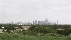 Wide distant shot of the Dallas skyline. Stock Footage