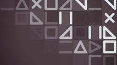 Geometrical flat pattern animation Stock Footage