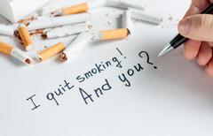 Antismoking background. Stop smoking Stock Photos