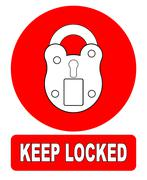 Keep Locked Padlock Sign Stock Illustration