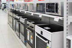 Moscow, Russia - February 02. 2016. cookers  in Eldorado, large chain stores - stock photo