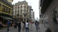 People walking on Rue des Fripiers and Rue Grétry in Brussels Stock Footage