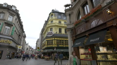 Crossroad between Rue des Fripiers and Rue Grétry in Brussels Stock Footage