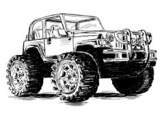 Extreme Sports - 4x4 Sports Utility Vehicle SUV Vector Illustration Stock Illustration