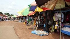 africa village market - stock footage