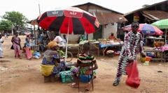 africa market place - stock footage