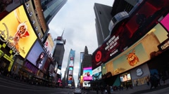 360 Degree Time-Lapse of Times Square in Manhattan - stock footage