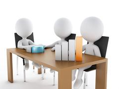 3d Business people in a Office meeting room. Stock Illustration