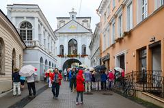 Chapel with Our Lady of Gate of Dawn, Vilnius, Lithuania Stock Photos
