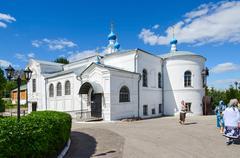 Kazan Church in the Holy Dormition Knyaginin convent, Vladimir, Russia - stock photo