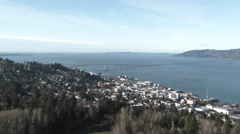 Astoria Oregon And The Great Columbia River Stock Footage