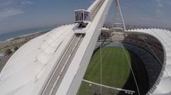 Aerial of Moses Mabhida Stadium  Stock Footage
