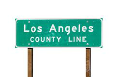 Los Angeles County Sign Isolated Stock Photos
