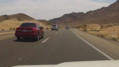 Fast Motion Driving Mojave Desert Freeway Near Baker California - stock footage