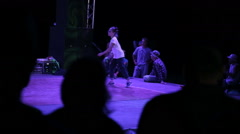 Teenager Girl Dancing Breaking on The Dance Floor - stock footage